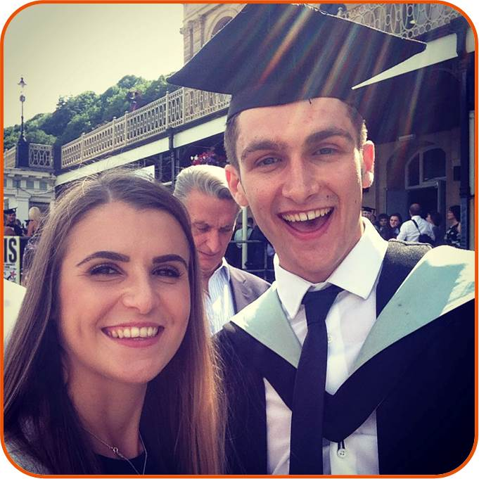 Edward Lavallin (now an OSC employee) graduating with the First Class Honours degree in Marine Biology from the University of Hull in July 2015. Ed undertook his undergraduate thesis with OSC, on industry data we provided.