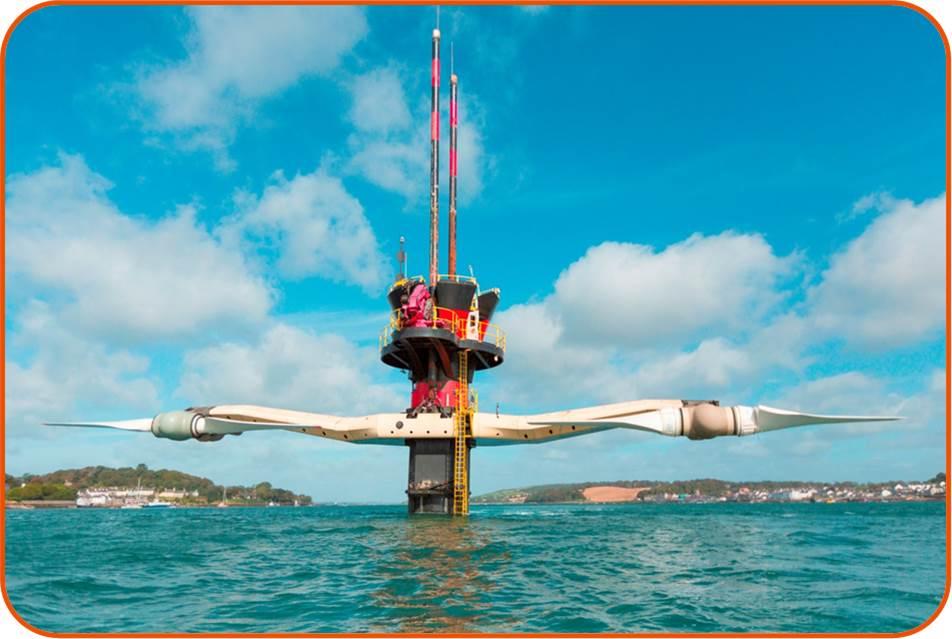 Sea Gen tidal turbine. © Siemens 2008.