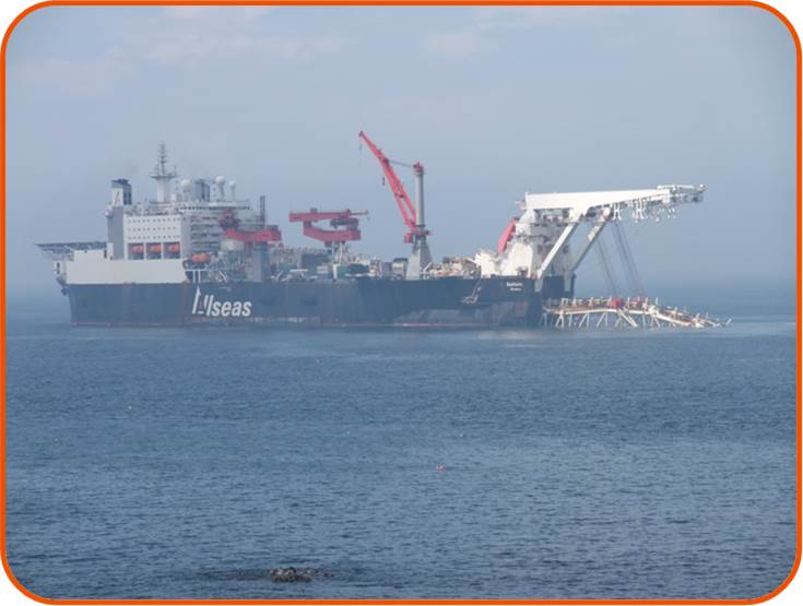 OSC staff had the privilege to work on a project involving the MV Solitaire, the largest pipe laying vessel in the world © OSC 2009.
