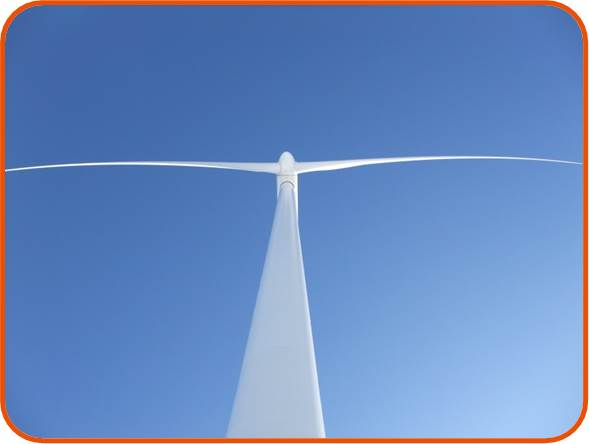 Aesthetically pleasing lines of a wind turbine © OSC 2015