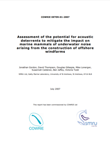 Assessment of the potential for acoustic deterrents to mitigate the impact on marine mammals of underwater noise arising from the construction of offshore wind farms (PDF)