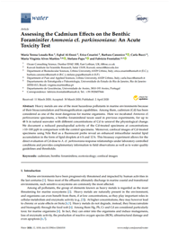 Assessing the Cadmium Effects on the Benthic Foraminifer Ammonia cf. parkinsoniana: An Acute Toxicity Test (PDF)