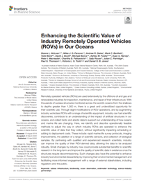Enhancing the global scientific value of industry remotely operated vehicles (ROVs) (PDF)