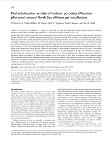 Diel echolocation activity of harbour porpoises (Phocoena phocoena) around North Sea offshore gas installations (PDF)
