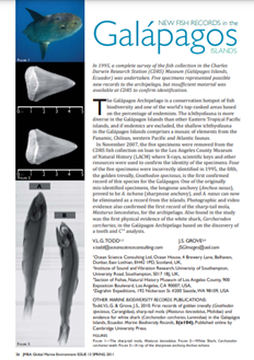 New fish records in the Galápagos islands (PDF)