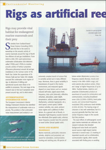 Rigs as reefs on the North Sea (PDF)