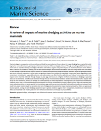 A review of impacts of marine dredging activities on marine mammals (PDF)