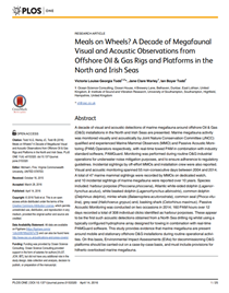 Meals on Wheels? A Decade of Megafaunal Visual and Acoustic Observations from Offshore Oil & Gas Rigs and Platforms in the North and Irish Seas (PDF)