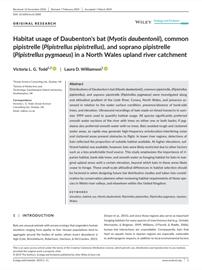 Habitat usage of Daubenton's bat (Myotis daubentonii), common pipistrelle (Pipistrellus pipistrellus), and soprano pipistrelle (Pipistrellus pygmaeus) in a North Wales upland river catchment (PDF)