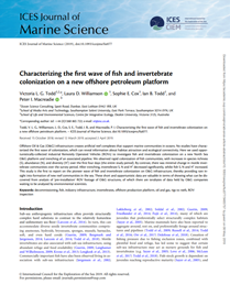 Characterizing the first wave of fish and invertebrate colonization on a new offshore petroleum platform (PDF)