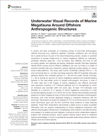 Underwater visual records of marine megafauna around offshore anthropogenic structures (PDF)