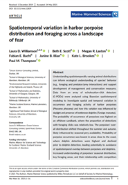 Spatio-temporal variation in harbour porpoise distribution and foraging across a landscape of fear (PDF)