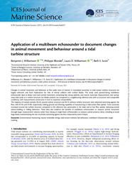 Application of a multibeam echosounder to document changes in animal movement and behaviour around a tidal turbine structure (PDF)